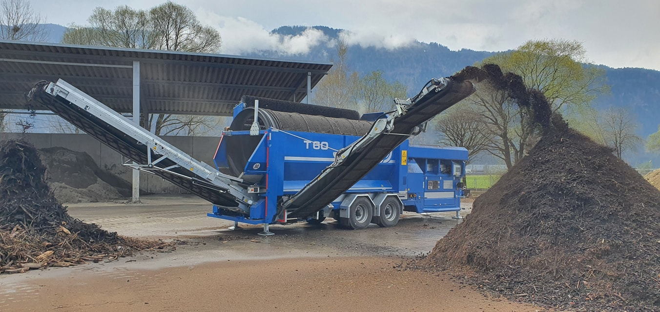 Crible trommel Terra Select T60 action criblage