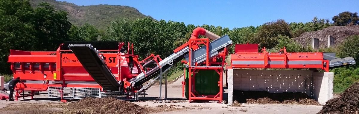 Ligne de récupération de biomasse